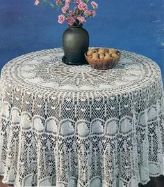 Round TableCloth  Crochet Pattern PDF Download - No Link Photo Only