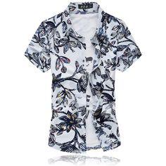 22 Colors Muticolors Fashion Short Sleeve Silk Hawaiian Shirt Men Summer Casual Floral Shirts Men Plus Size Casual Tops, Casual Shirts For Men, Men Casual, Men Shirts, Shirt Men, Hawaii Shirts, Fashion 2017, Mens Fashion