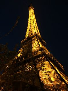 Eiffel Tower at night in Paris, France | Paris, Meet Boston blog