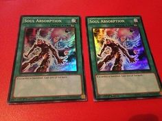 Yu-Gi-Oh-2x-Soul-Absorption-THSF-EN049-Super-Rare-1st-Edition-Moderate