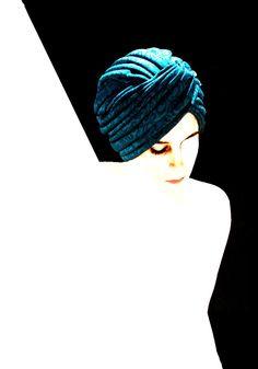Blue turbant.