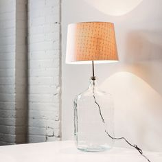 vintage blue glass carboy table lamp / industrial by AMradio, $98.00