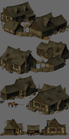 Medieval Farm - Extended License 3D Models Gaming Dante78