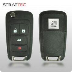 2010-2015 GM Logo 4-Btn Flippy Remote Head Key(STRATTEC 5913396)