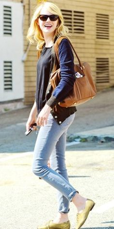 Emma has such a great casual style.
