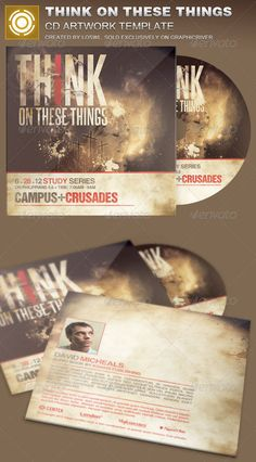 Think on These Things CD Artwork Template — Photoshop PSD #marketing #album • Available here → https://graphicriver.net/item/think-on-these-things-cd-artwork-template/8374601?ref=pxcr