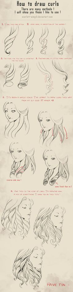 114 - How to draw curls by Scarlett-Aimpyh on deviantART