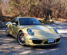 """First Drive: 2012 Porsche Carerra 2S. Indeed, in a week-long test, not a single person came up to me with the traditional, """"Is that the new …?"""" that usually greets the release of any new, high-profile, topline sports car. Many queried about the hue — called Lime Gold Metallic. #porsche"""