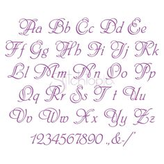 Stitchtopia Paris Embroidery Font Set- All Letters Numbers Punctuation Alphabet Cursif, Tattoo Fonts Alphabet, Calligraphy Fonts Alphabet, Handwriting Alphabet, Hand Lettering Alphabet, Embroidery Alphabet, Embroidery Fonts, Machine Embroidery, Script Fonts
