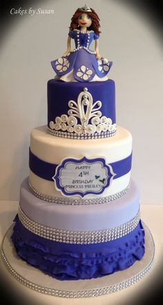 Sofia the first cake Can do just the bottom layer for a smaller