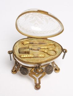 Late 19th century Etui with gilt metal tools