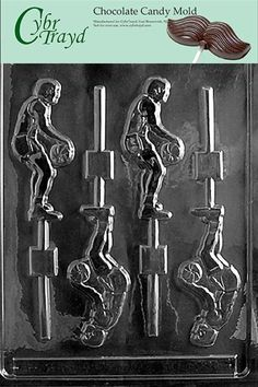 Cybrtrayd S006 Sports Chocolate Candy Mold Basketball Player Pop ** Click image for more details.