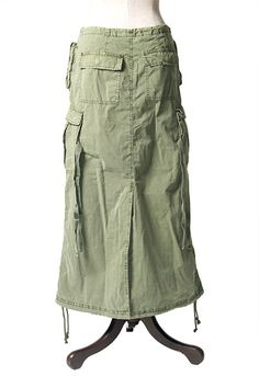 tencel cargo skirt the pockets sewing snoop