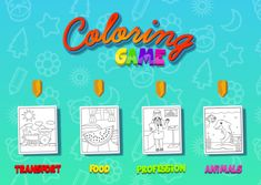Play Online, Online Games, Games For Small Kids, Coloring Pages For Kids, Coloring Books, Green Sky, Color Games, Different Tones, More Games