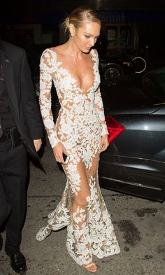 """""""Tuesday, December 2, 2014 - Candice Swanepoel on her way to the 2014 Victoria's Secret Fashion Show After Party in London. """""""