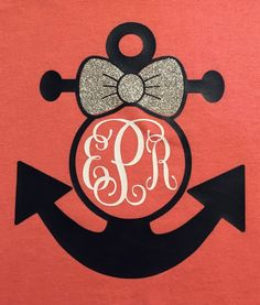 Anchor Monogram Short Sleeve Shirt by EmmyKaitCrafts on Etsy