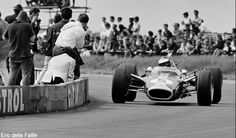 Jim Clark during the 1967 British GP at Silverstone
