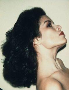 Bianca Jagger ~ Polaroid by Andy Warhol, 1979 Bianca Jagger, Charlotte Rampling, Pop Art, Terry Richardson, Twiggy, Alexa Chung, Francisco Javier Rodriguez, Hollywood, Art Graphique