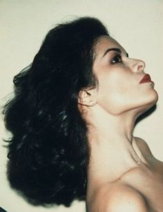 A polaroid of Bianca Jagger taken by Andy Warhol.