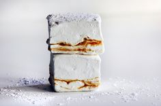 lapsang souchong caramel marshmallow straight stack by Beth Kirby | {local milk}, via Flickr