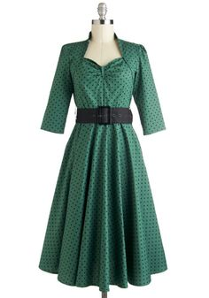 Polka Dots, Vintage Inspired, and Plus Size! - Pine for the Past Dress, #ModCloth