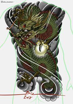 Japan Tattoo Design, Buddha Tattoo Design, Cool Back Tattoos, Back Piece Tattoo, Japanese Back Tattoo, Japanese Tattoo Designs, Dragon Head Tattoo, Dragon Tattoo Designs, Full Body Tattoo