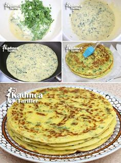 Spinach Pancake Pastry Recipe, How To . - Womanly Recipes - Delicious, Practical and Most Delicious Recipes Site - Spinach Crepe Rolls Recipe - Spinach Puff Pastry, Puff Pastry Recipes, Turkish Recipes, Indian Food Recipes, Paratha Bread, Spinach Pancakes, Turkish Breakfast, Ranch Pasta, Most Delicious Recipe