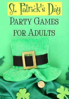 Need ideas for fun St. Patrick& Day party games for adults, but don& want to go with the same old drinking games? Check out these fun family-friendly party games that won& leave you forgetting your name the next morning! St Patricks Day Drinks, St Patricks Day Food, Happy St Patricks Day, Fun Party Games, Adult Party Games, Adult Games, Party Ideas, Party Themes, Theme Parties