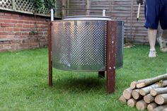 Home Made Fire Pit: Up-cycled Washing Machine! on The Owner-Builder Network http://theownerbuildernetwork.co/wp-content/blogs.dir/1/files/diy-fire-pit/DIY-Fire-Pit-9.jpg