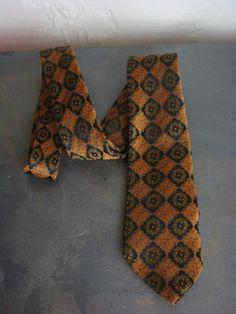 Vintage Regal Necktie Mens Dacron Silk 1960s by decadencefashion