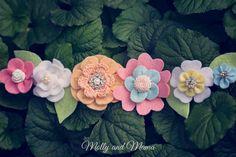 Spring Felt Flower Crown diy tutorial  by Molly and Mama