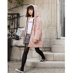 Karl Lagerfeld FW 19/20 Faux Fur Jacket, Fur Coat, Karl Lagerfeld Kids, Kids Coats, Dusty Pink, Kids Fashion, Winter Jackets, Long Sleeve, Fashion Trends