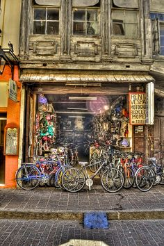 Old Bicycle Store by Panos La, via Flickr