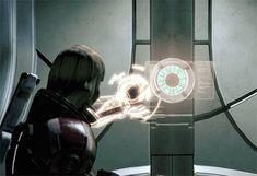 mass effect omnitool gif Mass Effect Tattoo, Google Search