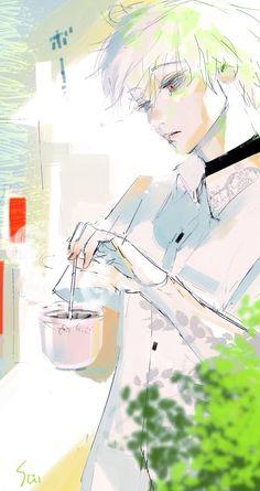 Tokyo Ghoul art posted by Ishida Sui.La serenidad viene cuando cambias las expectativas por la aceptación.