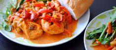 Kuracie prsia na paprike Príjemna variácia klasiky inšpirovanej kuchyňou našich kamarátov susedov. http://varme.sk/recipe/kuracie-prsia-na-paprike/?utm_source=fb&utm_medium=kuracie-prsia-na-paprike&utm_campaign=pinterest-main