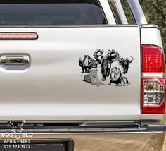 Brand: Bosveld Afrikaners Gauteng Pretoria Size: Bakkie, kar, car,SUV, Truck or wall Wildlife Safari, New Sticker, Kruger National Park, Big 5, Vinyl Decals, Buffalo, Lion, Elephant, African