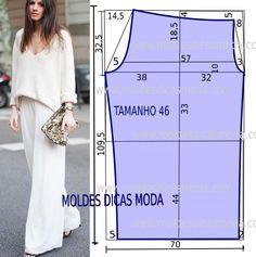 O molde calça fácil não tem valor de costura. Este molde calça fácil tem um grau de dificuldade de execução muito baixo, analise com atenção a ilustração.