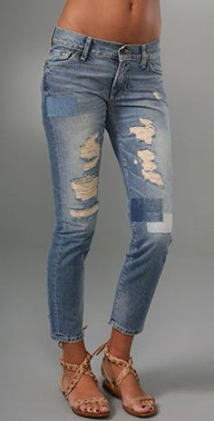 0e79c85b9c1 NEW 7 for all Mankind ROXANNE FLOOD skinny destroy JEANS size 28 UK 10 32-