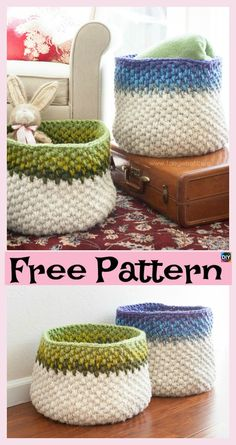 8 Most Adorable Crochet Basket Free Patterns #freecrochetpatterns #basket