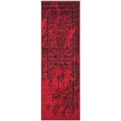 Adirondack Red/Black 2 ft. 6 in. x 6 ft. Runner