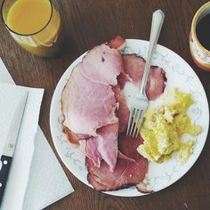 Amazing ham & eggs for brunch.  Enjoying this beautiful day with my family. Back on the paleo wagon.  And so grateful for a wonderful week.