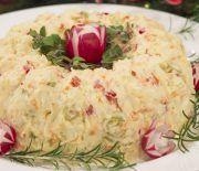 Xmas Food, Christmas Cooking, Christmas Desserts, Christmas Recipes, Canapes Recipes, Cake Recipes, Salad Cake, Appetizer Salads, Greek Recipes
