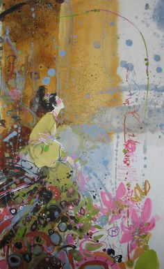 "Saatchi Art Artist Yulia Luchkina; Painting, ""Japanese poetry (SOLD)"" #art"