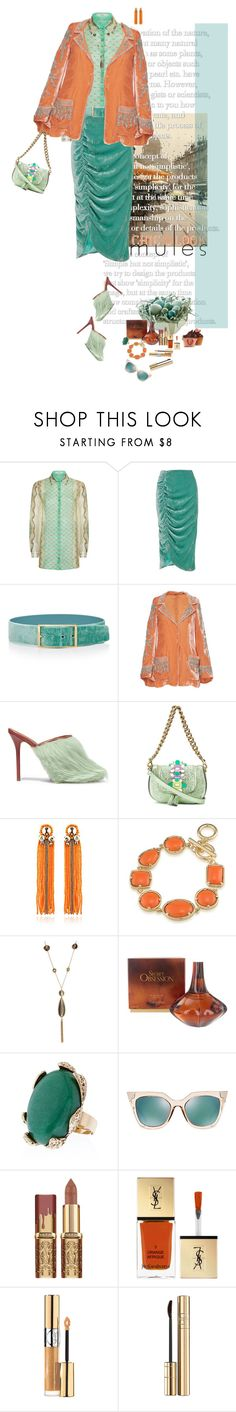 """mules"" by justirena ❤ liked on Polyvore featuring Etro, VIVETTA, Elie Saab, Roberto Cavalli, Malone Souliers, Anya Hindmarch, Begada, 1st & Gorgeous by Carolee, Kenneth Jay Lane and Calvin Klein"