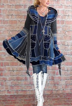 Sweater Coats, Sweater Jacket, Wool Sweaters, Bozo, Short Pixie, Vintage Sweaters, Refashion, Diy Fashion, Cashmere