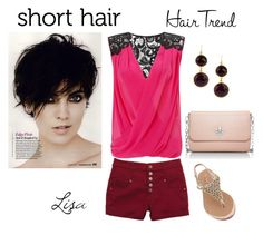 """""""Untitled #2781"""" by coolmommy44 ❤ liked on Polyvore featuring Lipsy, Tory Burch, Feather & Stone and ShortHair"""