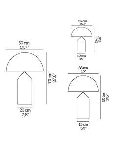 atollo lamp dimensions - Google Search