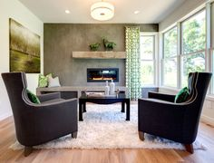 Prior Lake Custom Home - contemporary - Living Room - Minneapolis - AMEK Custom Builders