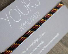 Miyuki beaded bracelet handmade with 24 carat gold plated beads - Gold plated lobster clasp Loom Bracelet Patterns, Bead Loom Patterns, Beaded Jewelry Patterns, Beading Patterns, Beaded Braclets, Bead Loom Bracelets, Dainty Bracelets, Handmade Bracelets, Friendship Bracelets